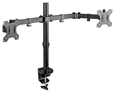 "Emperial Double Monitor Dual Arm Desk Stand Mount Computer 13-32"" Screen Bracket"