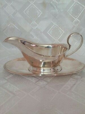Sterling Silver Saucer Boat or Creamer with Tray Kirk & Son