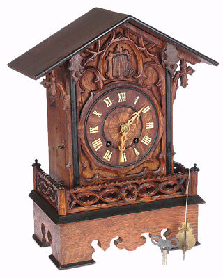 Vintage Circa 1875 Black Forest Germany WORKING Cuckoo Clock All Original woW