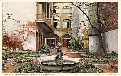 Postcard LA New Orleans Old French Court Yard Louisiana Vintage Unposted PC