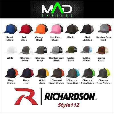 Personalized trucker hat Richardson 112 business logo your text embroidery gift