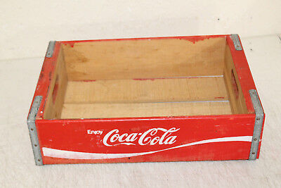 Vintage Wooden Coca Cola Bottle Crate Caddie Carrier Advertising  NICE !!!