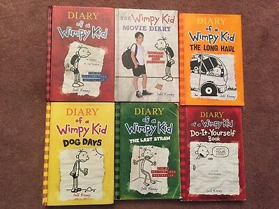 Diary wimpy kid hardcover lot of 6 1799 picclick lot of 6 diary of a wimpy kid books hardcover soft cover great solutioingenieria Gallery