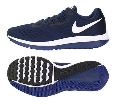 f77a1dddd70c7 Nike Men Air Zoom Winflo 4 Shoes Running Navy Casual Sneakers Shoe 898466 -400