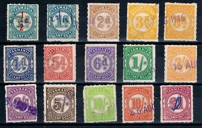 Tasmania • Stamp Duty • Numeral Types, 5th Series • ½d to £1 (15)