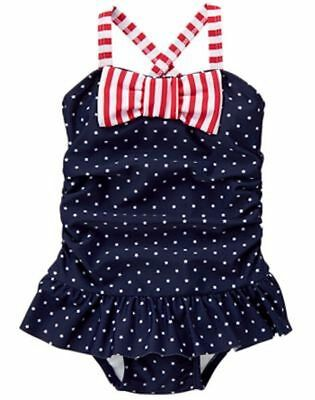 NWT Gymboree July 4th Swimsuit Girls Toddler 12-18M,2T,3T,4T