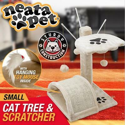 Small Genuine Cat Tree Scratching Post House Furniture Bed Scratcher Pole Gym