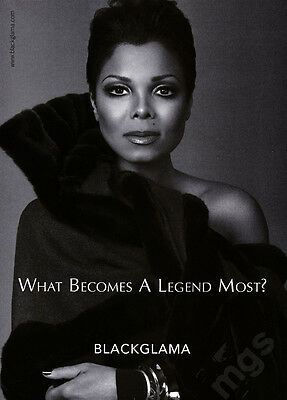 Janet Jackson fur coat 1-pg clipping 2010 ad for BlackGlama