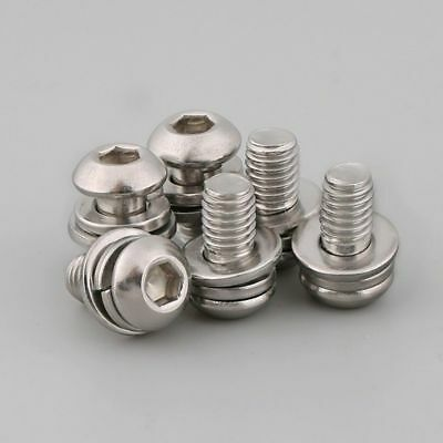 SEM Button Head Socket Screws + Spring&Flat Washers G304 Stainless M3/M4/M5/M6