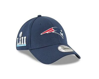 New England Patriots New Era  Super Bowl LII Tech Side Patch 39thirty Flex Hat