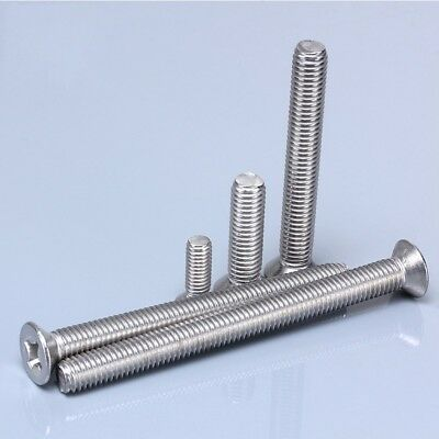 G304 Stainless Steel Countersunk Phillips Machine Screws Bolts M6*8mm-100mm
