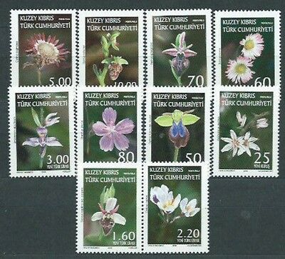 Cyprus Turkish - Mail Yvert 626/35 Mnh Flowers