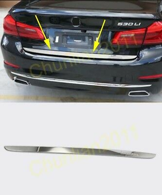 Stainless Rear Trunk Lid Decorative Cover Trim 1pcs For BMW X5 E70 2007-2013