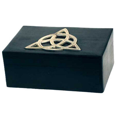 """Celtic Triquetra Trinket Box 4"""" x 6"""" to hold Keepsakes or Jewelry"""