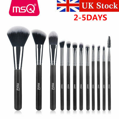 UK Soft 12Pcs Powder Foundation Makeup Brush Kabuki Eyeshadow Blush Brushes Sets