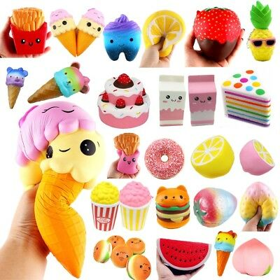 Jumbo Slow Rising Squishies Scented Charms Kawaii Squishy Squeeze Toys Gifts