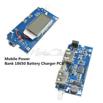 For Phone DIY Dual USB 5V 1A 2.1A Mobile Power Bank 18650 Battery Charger PCB