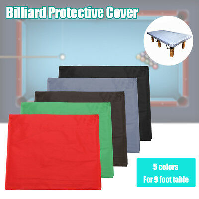9FT Foot Pool Billiard Table Cover Heavy Duty Fitted Polyester Fibre Durable AU