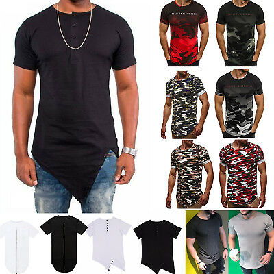 Men's Short Sleeve Shirt Tee Hip Hop Round-neck Cotton T Shirts Tops Casual New