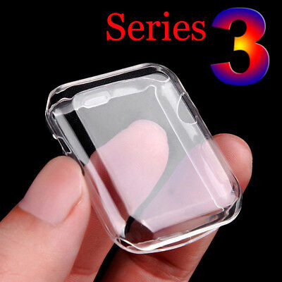 Apple Watch Full Cover Screen Protector Film Soft TPU Case 38/42 series 3/2/1 LC