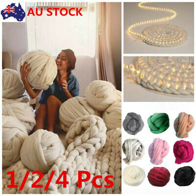 Super Thick Bulky Wool Yarn Soft Chunky Hand Knitting Hat Scarf Blanket 500g