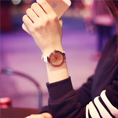 Nice New Leather Ladies Watch Simple Small Stars Sands Casual Quartz Women Watch