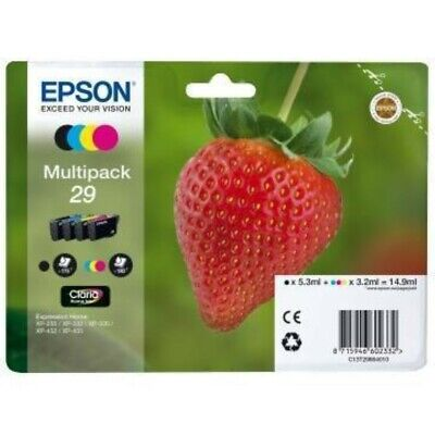 KIT 4 cartucce ~180 pagine Multipack Epson T2986 (C13T29864012) per XP-342