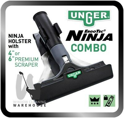 Unger ErgoTec NINJA Combo Holster with Scraper Window Cleaning Remove Glue etc