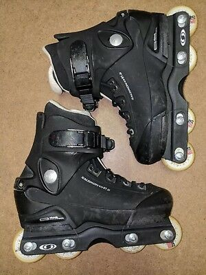 Salomon STs junior all black inline skates kids aggressive roller blades