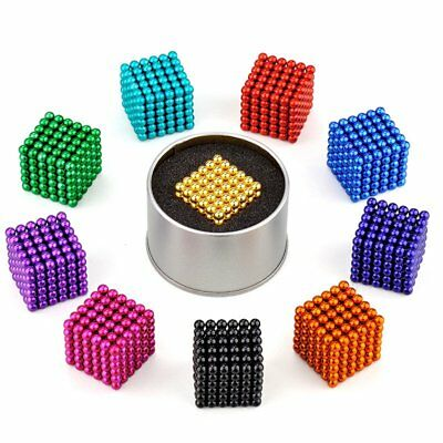 5mm 216pcs Magnet Balls Magic Beads 3D Puzzle Ball Sphere Magnetic Reliever Toy