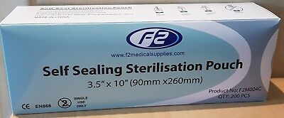 Self Seal Sterilization Pouches - 200 Pack- 2 Sizes Available -Good Quality- New
