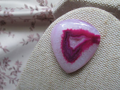 ~ Natural Pink & White African Onyx Druzy Cabochon Gemstone ~ (1)