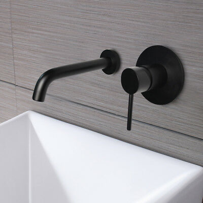 Vintage Oil-rubbed Bronze Finish Solid Brass Wall Mount Bathroom Sink Faucts