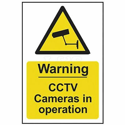 Warning CCTV Cameras In Operation - PVC 200 x 300mm by Scan - 1311