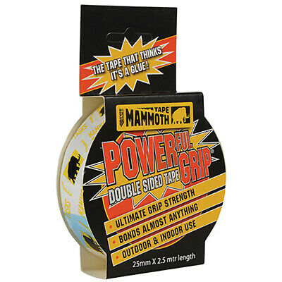 Powergrip Double Sided Tape 25mm x 2.5m by Everbuild - 2POWERGRIP25