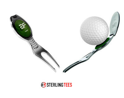 FIZGOLF divot tool & ball cleaner Quality pitch fork repairer