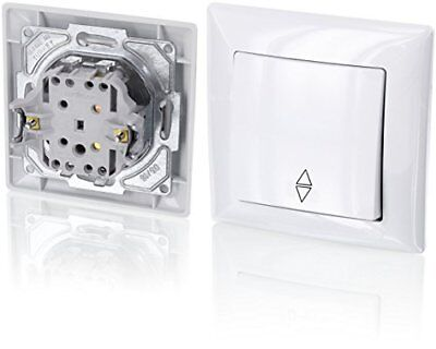 Up Double-Throw Switch – All-in-one – Frame with Flush-Mounted Insert + Cover