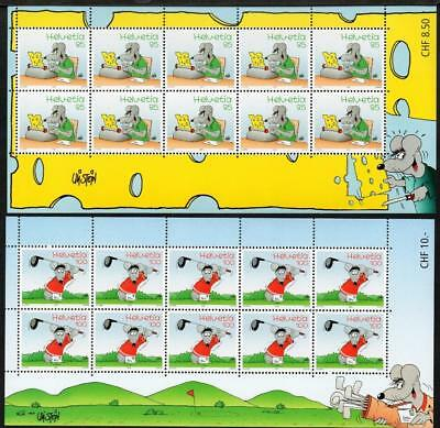 SWITZERLAND MNH 2005 SG1631-32 Cheeky Mouse (Cartoon Character) Sheets