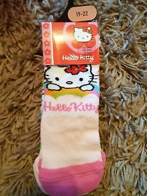 Hello Kitty 2 Pack Of Socks Size 19-22 Bhs Stock.