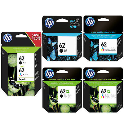 Genuine HP 62 Combo / 62XL Black and Colour Ink Cartridges for ENVY 5640 e-AiO