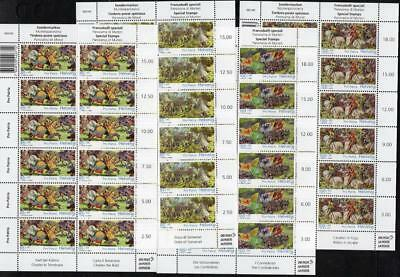 SWITZERLAND MNH 2010 SG1849-52 Pro Patria Battle of Murten Sheets