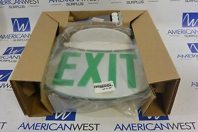 Lithonia Solo W 1 Gmr Sd Pnl - Green Oval Led Exit Sign - New