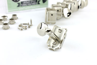 Vintage Style Split Shaft Tuners Tuning Pegs Nickel for Fender Strat Tele