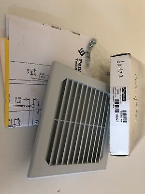 "Hoffman SG-0500-404 5"" Square Enclosure 19978 W/Filter HTC Part 60422 New!"