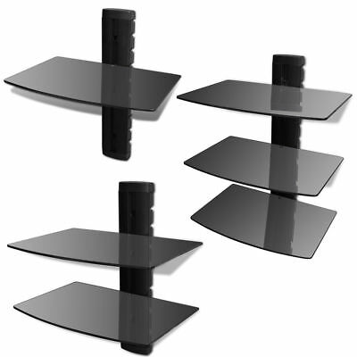 Emperial Floating Glass Shelves 1-3 Tier Sky Box PS4 Xbox TV Wall Mount Bracket