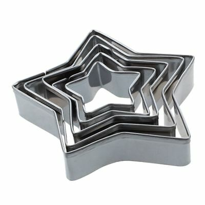 5 pcs alloy Aluminum cake type cookie cutter Silver star FP