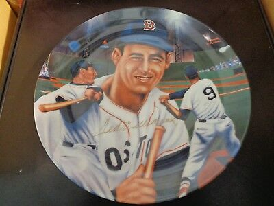Ted Williams Signed Plate Boston Red Sox Sports Impressions #698 Boston Red Sox