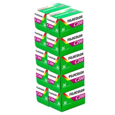 Fuji Fujicolour C200 35mm 36exp - 10 Rolls Cheap Colour Film - Free UK Postage