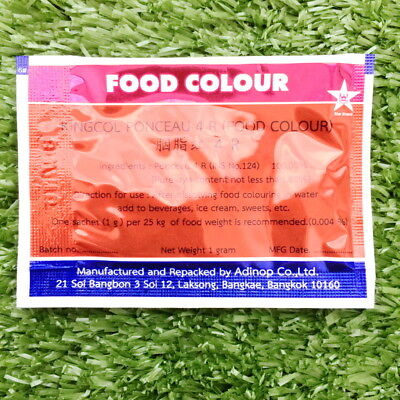2X POWDER RED Kingcol Food Coloring Safe Colour Additive Bakery ...