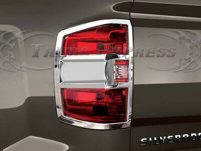 FOR 2014-2017 CHEVY SILVERADO TRUCK TRIM BEZEL TAIL LIGHTS COVER COVERS NEW LOOK